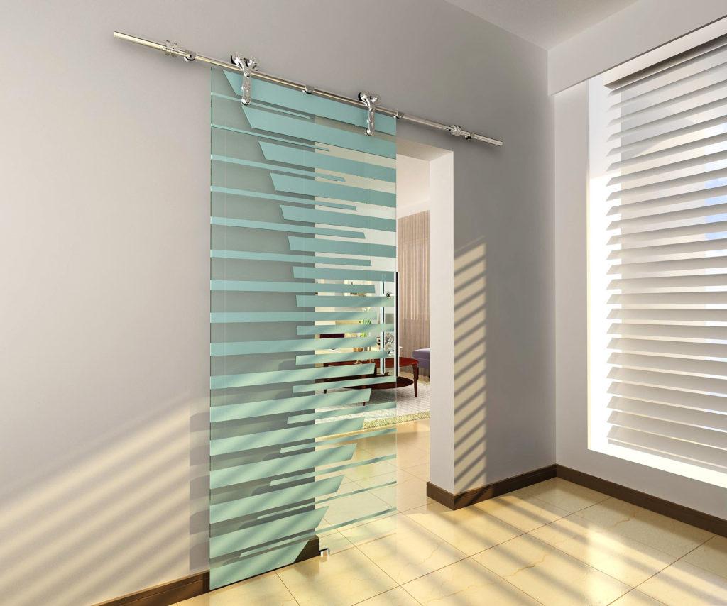 AC5000 Series Glass Barn Door Hardware