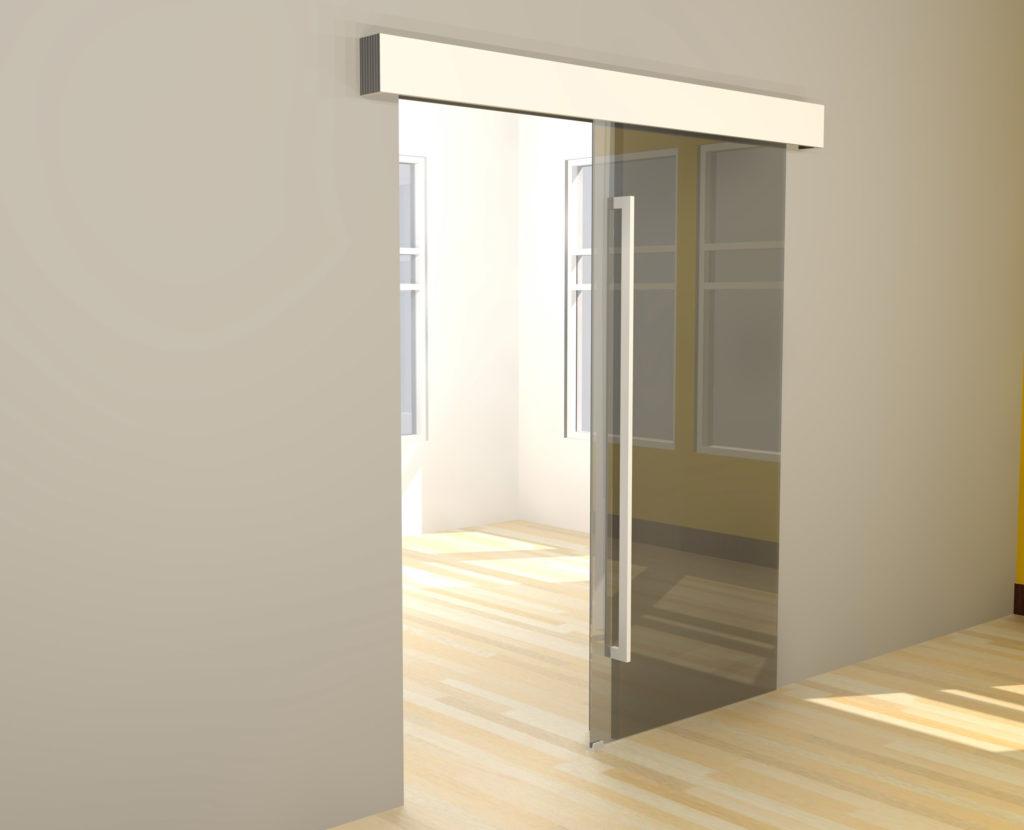 ACCL80SC-GD glass barn door